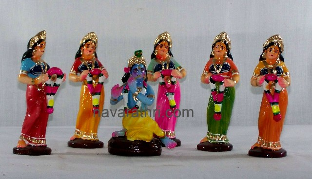 Retro Golu Dolls from 1950s